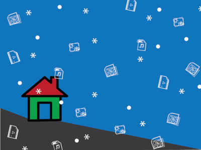 Snowy Files icons snow file sharing