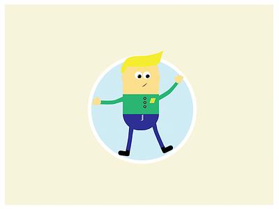MiniMe illustration blond