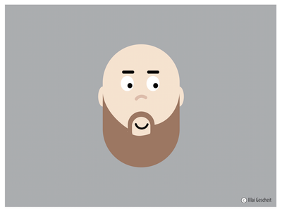Baby or Man? confused design baby illustration
