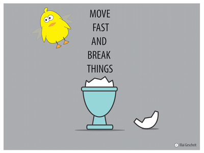 Move Fast And Break Things egg inspiration animation