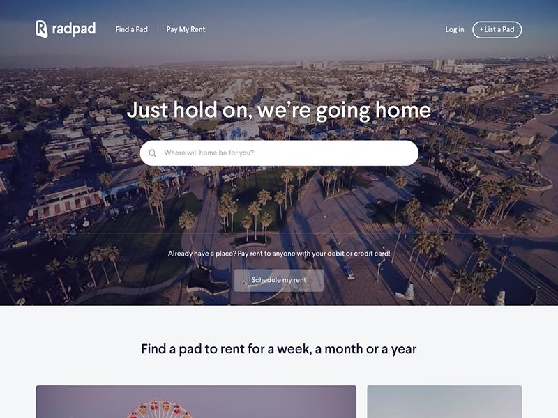 Radpad homepage