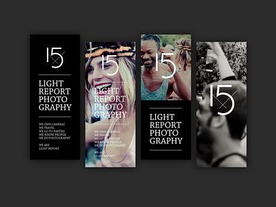Lightreport Concepts logo typography design concept