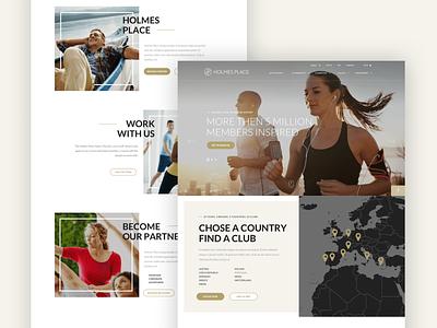 Holmesplace - Corporate gym fitness club fitness web desgin ux ui design