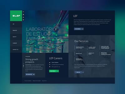 Lef ui  ux webdeisgn design medical pharmaceutical concept