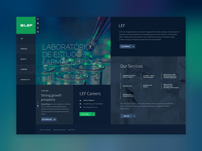 Lef ui  ux webdeisgn design medical pharmaceutical concept