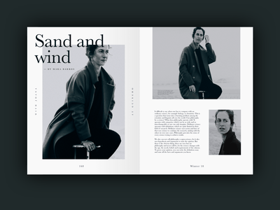 Wind And Sand photography clean typography art direction portrait fashion minimal layout magazine design editoral concept