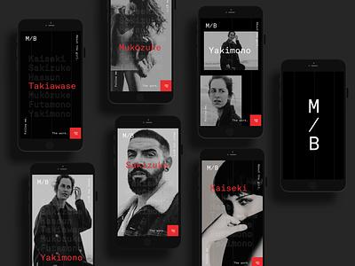 M/B Portfolio - Mobile mobile portraits ux ui design concept