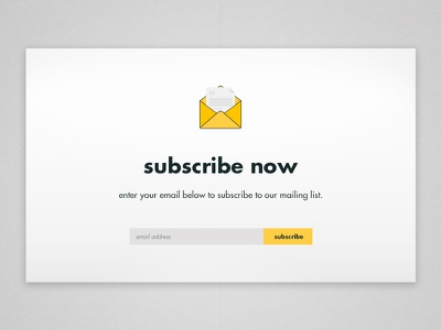 Subscribe // 026 icon mail subscription subscribe dailyui ux ui daily ui