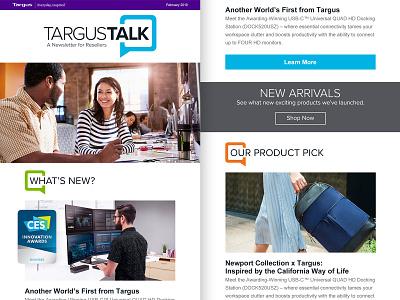 Targus Talk – Responsive HTML Email Newsletter photoshop branding typography ui logo design