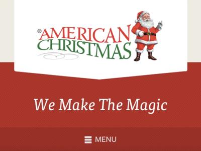 American Christmas Website Header holiday symbolset header mobile responsive ribbon stripes website header christmas ff tisa freight sans css css3