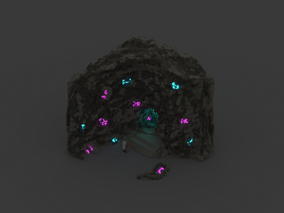 Voxel experiment | The Cave