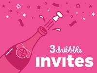 3x Dribbble Invites