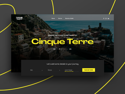 TAKE ME THERE experience designer travel ui design web