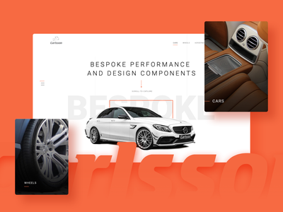 Carlsson Website graphics mercedes grid layout tuning homepage cars clean web minimal webdesign landing page