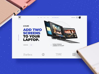 Le Slide - Homepage concept technology display design minimal screen web webdesign