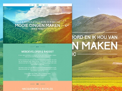 Website for Roald Hacqubord developer responsive clean music groningen design branding web website