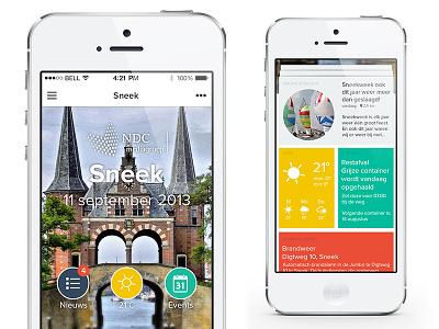App design for NDC Mediagroup peperzaken groningen newspaper netherlands mobile design ux ui news app