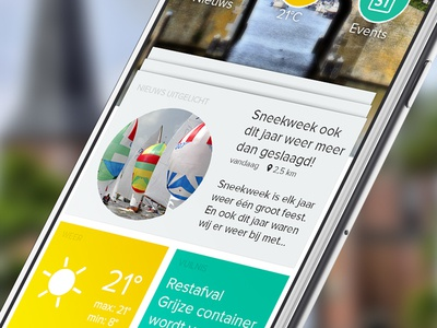 NDC Mediagroup App peperzaken ux local newspaper news mobile android iphone app ui design