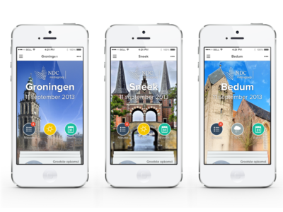 NDC Mediagroup App dutch netherlands local iphone newspaper news mobile app peperzaken ux ui design