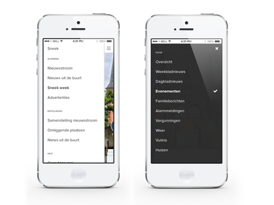 NDC Mediagroup App dutch netherlands local iphone newspaper news mobile app peperzaken ux ui design