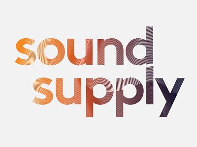 Sound Supply waves identity visual sound sonos logo color groningen branding clean design