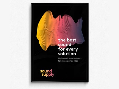Sound Supply waves identity visual sound sonos logo color groningen branding clean design
