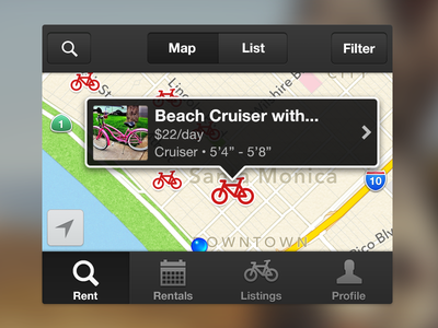 Spinlister spinlister ios iphone peer-to-peer airbnb for bikes