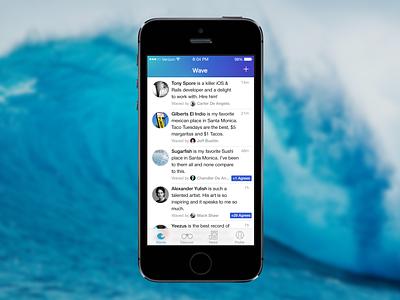Wave wave app ios ios 7 social personal project