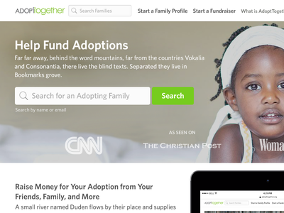 AdoptTogether crowd fund adoptions kickstarter adopting crowdfunding adoption