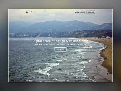 Sorry product design santa monica beach la agency sorry