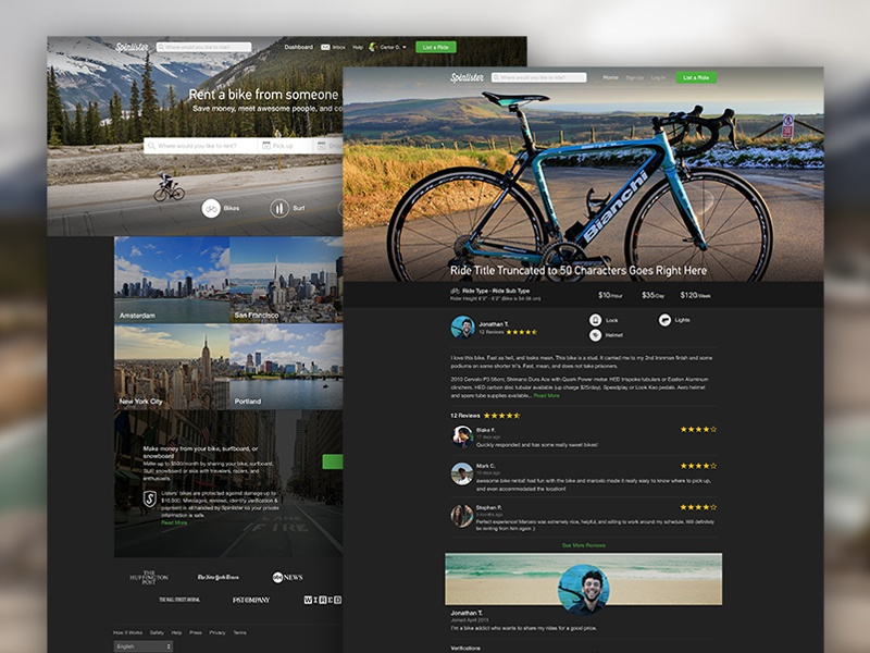 Dribbble spinlister