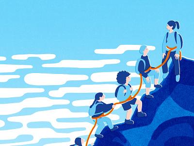 Together, we can design graphic poster design conceptual illustration poster illustration