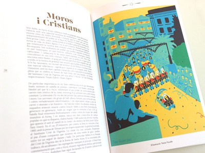 Moros i Cristians spain festival graphic book illustration design illustration