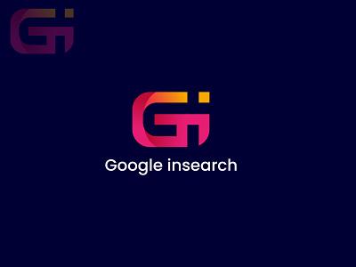 Google insearch logo design (G + I) alphabet logo art logo designer logotype logo concept logo mark monogram branding logo inspiration lettermark logo design modern colorful gradient unique gi logo logodesign logo