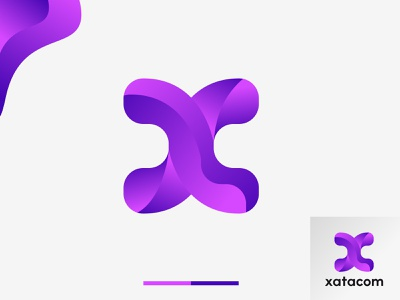 X letter logo mark, modern x logo brand creative clean app abstract minimal gradient x logo branding illustration logo designer unique lettermark 3d modern logo mark ui colorful logo art logo