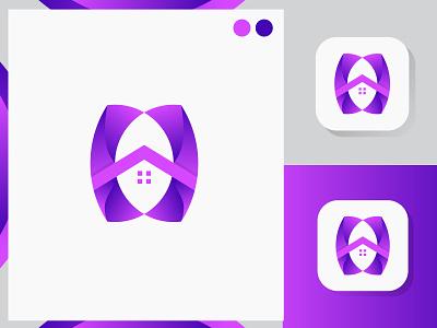 H letter mark logo । Realstate home logo icon illustration design realestate clean character art app 3d logo mark logodesign modern gradient unique colorful logo concept lettermark logo art branding h logo logo