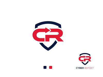 Modern (C+ R) Logo Mark minimalist flat clean design ui logo design app art logo mark lettermark modern unique logo concept branding logo