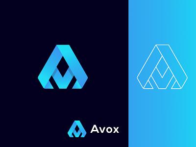 Letter A Logo Mark. Avox Logo logo mark unique lettermark vector art minimalist simple colorful ui app concept trend branding a letter logo modern design logo