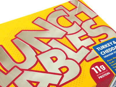 Lunchables die cut packaging lunchables redesign