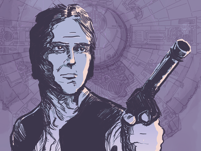 Han Solo - iPhone Wallpaper