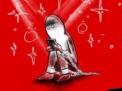 Serf Superstar hand drawn illustration