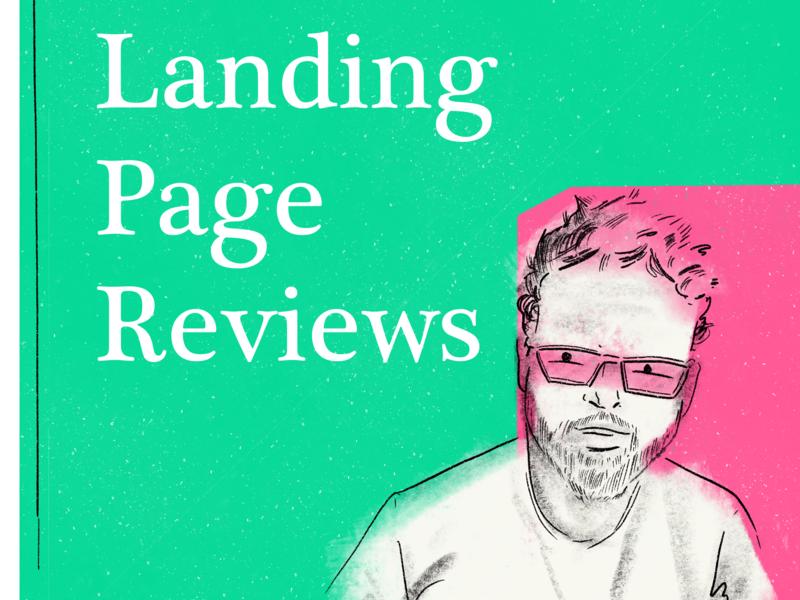Landing Page Reviews art hand drawn illustration