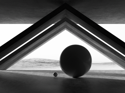 Primitives 03 minimalism design monochrome cinema 4d c4d architecture render 3d geometric