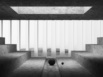 Primitives 04 cgi render monochrome cinema 4d architecture design 3d geometric