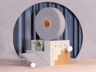 Details VI set interior design setdesign abstract c4d 3d render architecture geometric illustration design