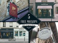 FREE!! 5x Shop Mock Ups