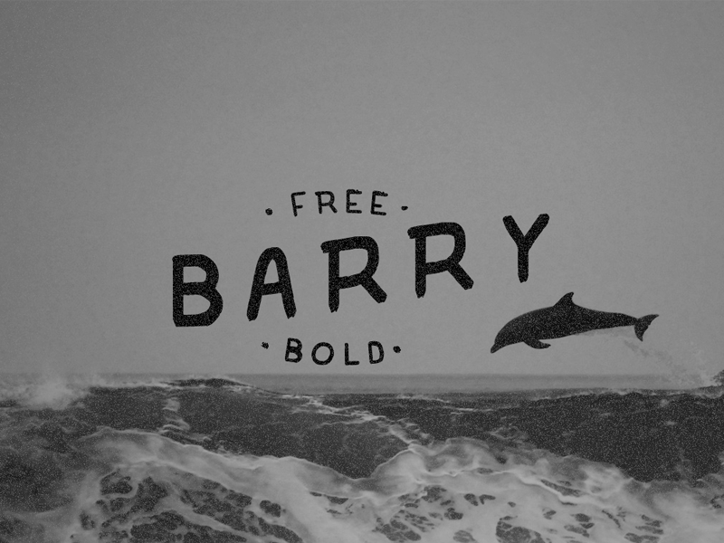 FREE Barry Bold Typeface bold hand drawn handdrawn gift download freebie fonts typeface free font