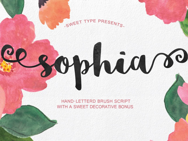 FREE Sophia Typeface bold hand drawn handdrawn gift download freebie fonts typeface free font