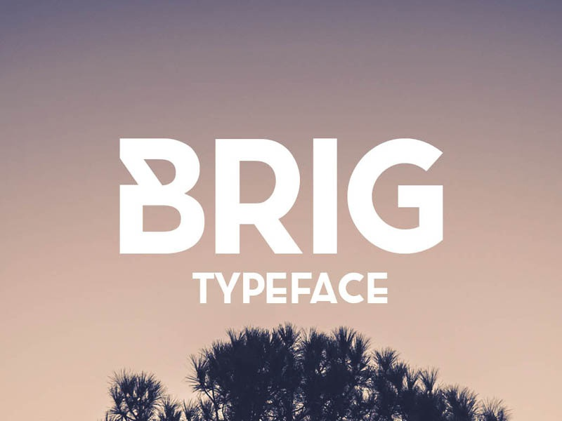 FREE Brig Typeface bold hand drawn handdrawn gift download freebie fonts typeface free font