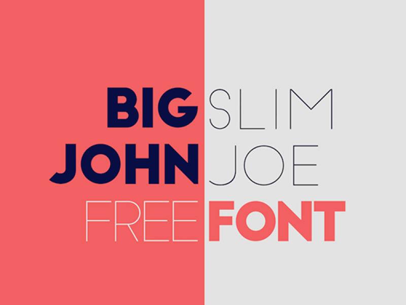 Free Big John/Slim Jim Font bold hand drawn handdrawn gift download freebie fonts typeface free font